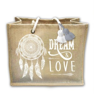 Dream & Love - Sac en Toile de Jute