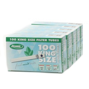 Lot de 5 Boites de 100 Tubes a Capsule Fresh Mint - Atomic