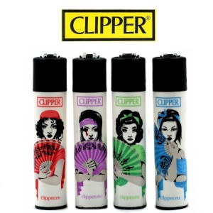 Lot de 4 briquets Clipper - Ladies