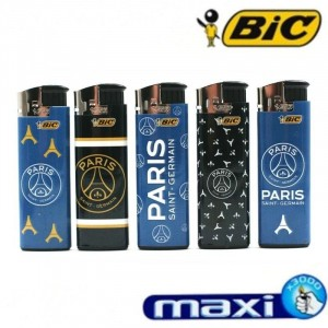 Lot de 5 Briquets Maxi BIC Electronique - Paris-Saint-Germain
