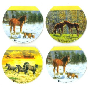 Lot de 4 Bloc-Notes Autocollant - Chevaux