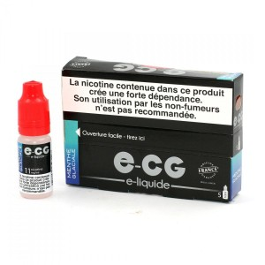 Lot de 5 Flacons E-CG - Menthe Glaciale 11 mg/ml