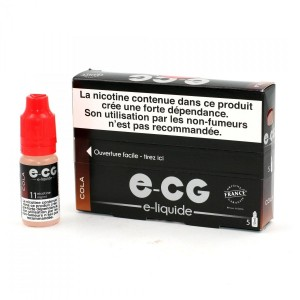 Lot de 5 Flacons E-CG - Cola 11 mg/ml