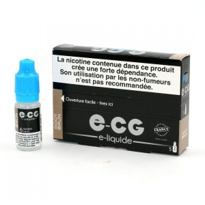 Lot de 5 Flacons E-CG - Goût Brun 6 mg/ml