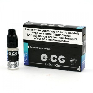 Lot de 5 Flacons E-CG - Menthe Glaciale 16 mg/ml