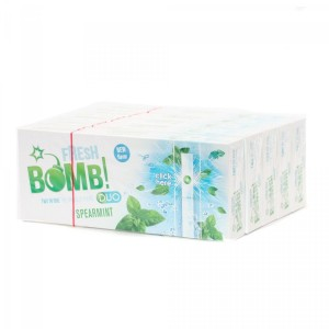 Lot de 5 Boites de 100 Tubes à Capsules Fresh Bomb! Duo - Spearmint