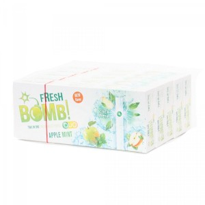 Lot de 5 Boites de 100 Tubes à Capsules Fresh Bomb! Duo - Apple Mint