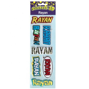 Stickers 3D Rayan