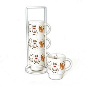 Set de 4 mugs sur colonne collection ISIDORE