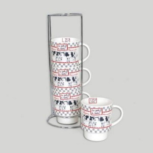 Set de 4 mugs sur colonne collection MILK