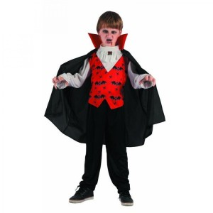 Costume Enfant Vampire Taille 5-6 ans (S)