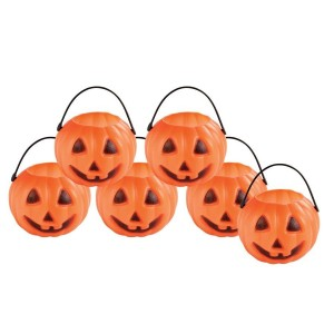 Lot de 6 mini pot en forme de citrouille