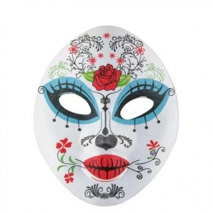 Masque Femme adulte en tissu day of the dead