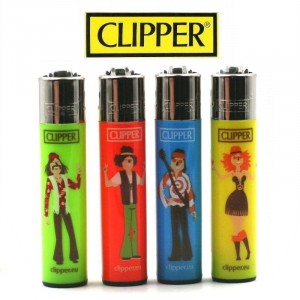 Lot de 4 Briquets Clipper - Hippie 10