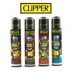 Lot de 4 Briquets Clipper - Mexican Wrestlers