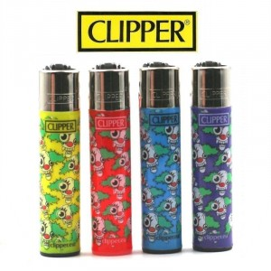 Lot de 4 Briquets Clipper - Crazy Clown