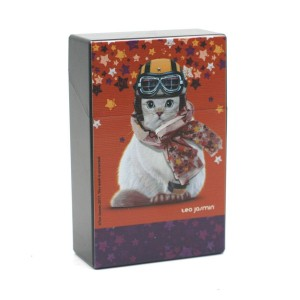 Etui à Paquet de Cigarettes - Chat Casque