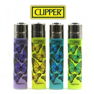 Lot de 4 Briquets Clipper - Butterflys