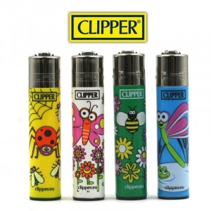 Lot de 4 Briquets Clipper - Spring Animals