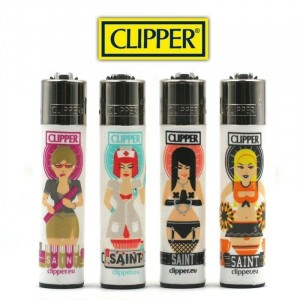 Lot de 4 Briquets Clipper - Saints