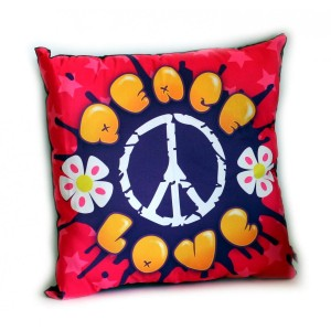 Coussin Peace and Love