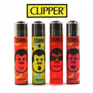 Lot de 4 Briquets Clipper - Monkey's town