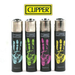 Lot de 4 Briquets Clipper - Skulls 6