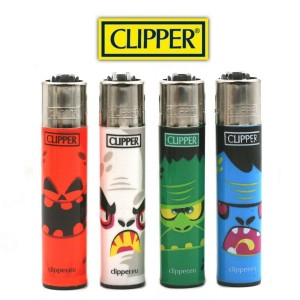 Lot de 4 Briquets Clipper - Monster Horror