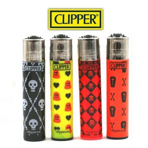 Lot de 4 Briquets Clipper - Monster Horror 2