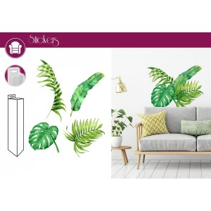 Stickers 50 x 70 cm - Plante Tropical