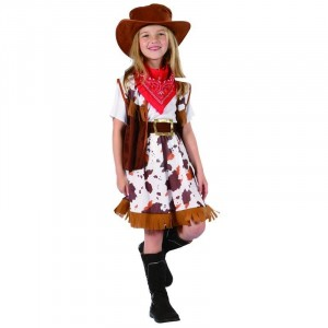 Costume Enfant Cow Girl Taille 5-6 ans (S)