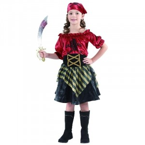 Costume Enfant Pirate Fille Taille 7-9 ans (M)