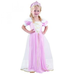 Costume Baby Princesse Rose - Taille 1-2 ans (80-92 cm)