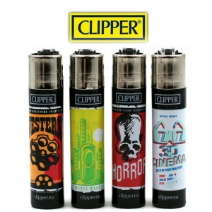 Lot de 4 Briquets Clipper - Movies Theater 2