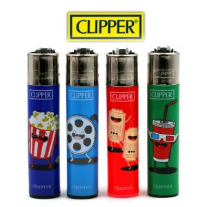 Lot de 4 Briquets Clipper - Movies Theater 1