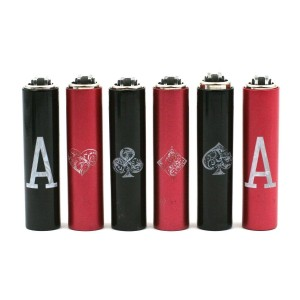Lot de 6 Mini Clipper avec Etui - Poker
