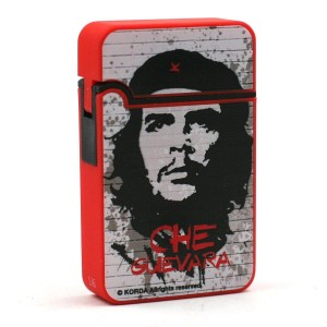 Briquet Turbo Che Guevara Finition en Gomme - Rouge