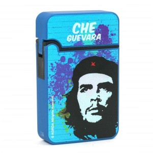 Briquet Turbo Che Guevara Finition en Gomme - Bleu