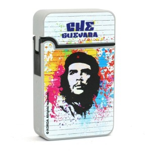 Briquet Turbo Che Guevara Finition en Gomme - Blanc