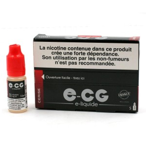 Lot de 5 Flacons E-CG - Goût Cerise 11 mg/ml