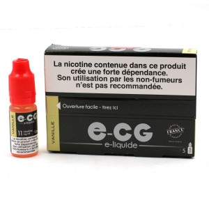 Lot de 5 Flacons E-CG - Goût Vanille 11 mg/ml