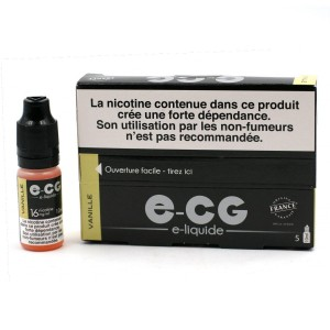 Lot de 5 Flacons E-CG - Goût Vanille 16 mg/ml