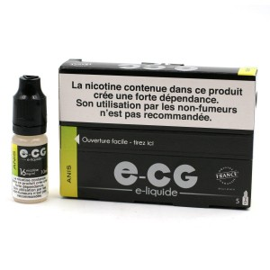 Lot de 5 Flacons E-CG - Goût Anis 16 mg/ml