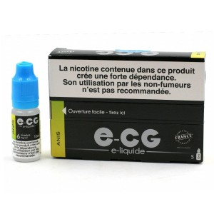 Lot de 5 Flacons E-CG - Goût Anis 6 mg/ml