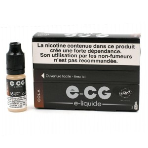 Lot de 5 Flacons E-CG - Goût Cola 16 mg/ml