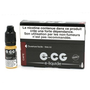 Lot de 5 Flacons E-CG - Goût Café 16 mg/ml