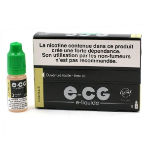 Lot de 5 Flacons E-CG - Goût Vanille 3 mg/ml