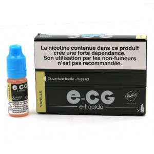 Lot de 5 Flacons E-CG - Goût Vanille 6 mg/ml
