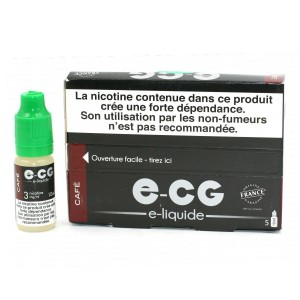 Lot de 5 Flacons E-CG - Goût Café 3 mg/ml