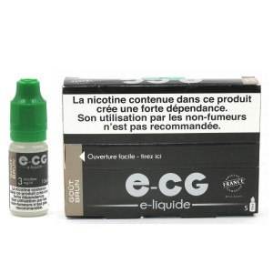 Lot de 5 Flacons E-CG - Goût Brun 3 mg/ml